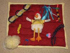 Activity blanket for dementia, Alzheimer's, stroke patients, nursing home & hospital patients.