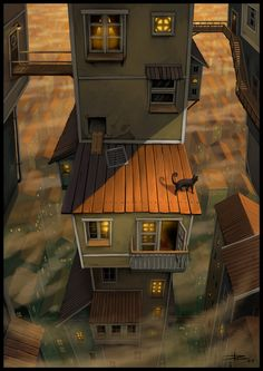 A Walk Across The Rooftops by ~Tyrus88 on deviantART