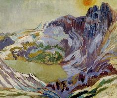 Duncan Grant British Bloomsbury Group painter and designer. Cader Idris oil on card Government Art Collection UK). Duncan Grant, John Duncan, Vanessa Bell, Virginia Woolf, Paintings I Love, Your Paintings, Landscape Art, Landscape Paintings, Landscapes
