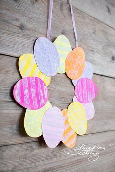 Diy Easter Decorations, Paper Decorations, Easter 2021, Easter Wreaths, Diy Crafts For Kids, Easter Crafts, Creative, Jar, Spring