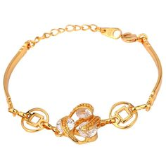 Amazon.com: Zirconia Bracelet For Women 18K Real Gold Plated AAA Zircon Jewelry Resizable Chain Bracelet: Jewelry