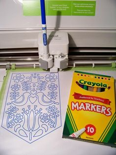 Other Pens that Work in the Cricut Explore!  I love that cheapo Crayola Markers work!  An excellent way to practice or make kids' coloring pages without wasting your spiffy pens.