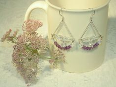 Amethyst Chandelier Statement Earrings  Very by SandiesGiftCorner, $18.95