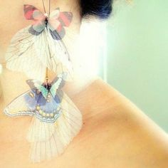 ditch the butterfly  use structure and composition    Fluttery butterfly earrings by Derya Aksoy