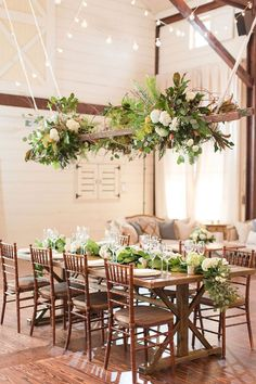 Maggie and James Pippin Hill Wedding Katelyn James Photography Church Wedding Flowers, Modern Wedding Flowers, Wedding Flower Arrangements, Hanging Flowers Wedding, Ladder Wedding, Rustic Wedding, Elegant Wedding, Fall Wedding, Boho Wedding