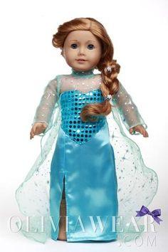 #1 FROZEN COLLECTION Queen Elsa Sparkle Shiny Dress