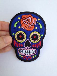 Hey, I found this really awesome Etsy listing at https://www.etsy.com/listing/183422831/iron-on-sugar-skull-patch