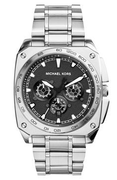 Free shipping and returns on MICHAEL Michael Kors Michael Kors 'Grandstand' Chronograph Square Bracelet Watch, 43mm at Nordstrom.com. Crisp white markers and chronograph subdials stand out from the finely textured dial of a sports-minded watch. The squared case pairs with the sleek bracelet to enhance the hardcore style.