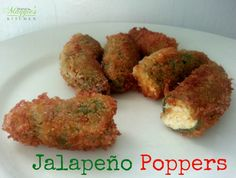 Jalapeño Poppers - if you like spicy, you'll love these. Stuffed with cream cheese. They are amazing! - by Mama Maggie's Kitchen
