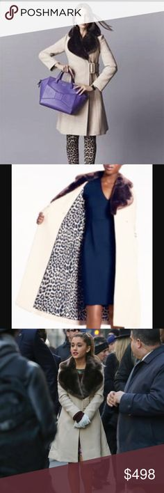 KATE SPADE BRIELLA COAT *NWT* Gorgeous plush faux fur collar atop a woven wool coat tailored by princess seams.  Features a side-swept buckle closure and 2 deep on-seam pockets.  This is a beautiful, well tailored coat that is super flattering, warm and comfortable. kate spade Jackets & Coats