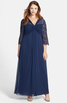 Alex Evenings Lace Sleeve Gown (Plus Size) available at #Nordstrom