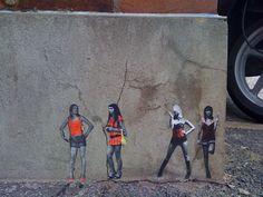 Graffiti girls on Mountclare Street near our Brick Lane shop