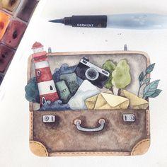 Мечтаем перед сном о дальних путешествиях и новых впечатлениях, о чем-то вечном, что заключено в свете маяка и всплеске морских волн... Вдохновением стал рисунок @come.on.maria который украсил нашу открытку) #мечтыоморе #путешествие #приключения #лунная_станция #отрытка #посткроссинг #обменоткрытками #moonpost_station #illustration #dreams #маяк #lighthouse