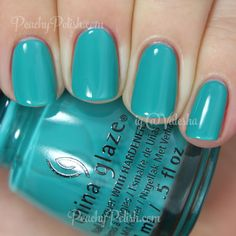 China Glaze My Way Or The Highway | Spring 2015 Road Trip Collection | Peachy Polish #blue/green