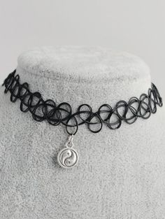 SHARE & Get it FREE | Tai Ji Circle Hollow Out Tattoo Choker - BlackFor Fashion Lovers only:80,000+ Items • New Arrivals Daily Join Zaful: Get YOUR $50 NOW!