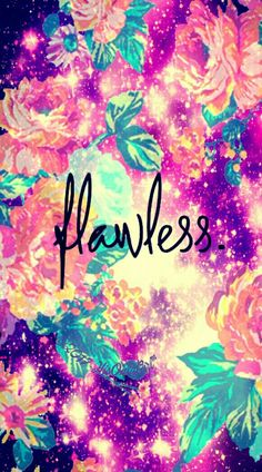 Flawless floral galaxy wallpaper I created for the app CocoPPa!
