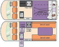 Image result for toyota hiace campervan layout