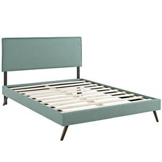 Modway Furniture Camille Queen Febric Platform Bed With Round Splayed Legs In Laguna - MOD-5633-LAG