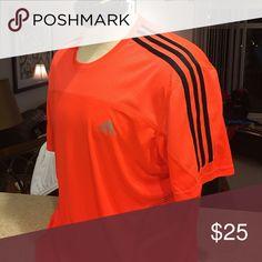 🏆 hp Men's Adidas extra-large T-shirt orange Adidas extra large men's short sleeve T-shirt orange climalite new without tags 🏆 host pick yea Adidas Shirts Tees - Short Sleeve