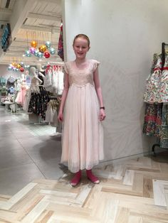 Junior bridesmaid dress chosen by Sam