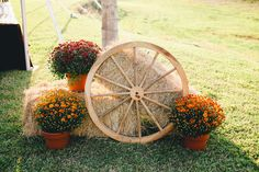 wagon wheel straw bale decorations | Wedding Part 3: The Devil's in the Details | funny stories and fun ...