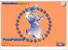 """Pasapalabra """"Matemáticas Básicas 1"""" de Genmagic.org (4º y 5º de Primaria)"""