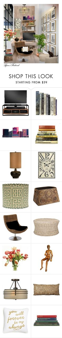 """My Corner -  #3306"" by lynnspinterest ❤ liked on Polyvore featuring interior, interiors, interior design, home, home decor, interior decorating, BDI, Table Art, Thumprints and WALL"