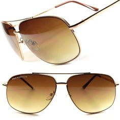 695fbb145 Designer Retro Air Force Pilot Classic Mens Womens Gold Aviator Sunglasses  D73D #AirForce #Aviator