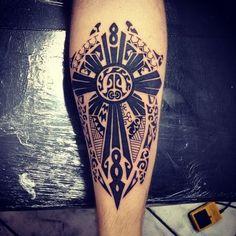 Maori Tattoos - View the latest tattoo design ideas Star Tattoos, Leg Tattoos, Tribal Tattoos, Sleeve Tattoos, Tattoos For Guys, Cool Tattoos, Maori Tattoos, Cruz Tattoo, Latest Tattoo Design