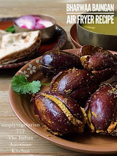 Classic Indian Stuffed Eggplants done in the Air Fryer