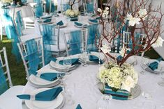 Blue and Silver Party Ideas | Southwestern Silver and Turquoise Wedding Soiree | A1 Event and Party ...