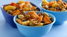 Enjoy a hint of cinnamon in this crunchy snack food made with Chex Mix® cheddar snack mix. Ready in just five minutes!