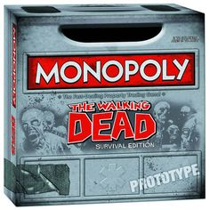 Preorder: Walking Dead Monopoly  A Previews Exclusive! Despite its post-apocalyptic setting, Monopoly: Walking Dead 'Survival Edition' delivers classic Monopoly wheeling and dealing game play. Players vie for, and must then fortify, the prime real estate and resources that will sustain their lives. There's only one victor that will outlast the others - whether living or undead - when all is said and done.   Regular Price: $39.99