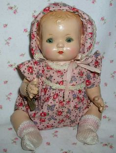 Effanbee - PATSY BABYkin - Early 1930s-- Blond Molded Hair MINT -- Twin GIRL