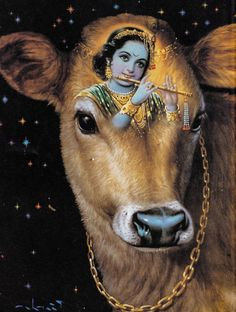 Krishna and the cow