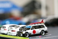 talented customizers share their best diecast creations for your viewing pleasure - with lots of Hot Wheels Diorama action! Custom Hot Wheels, Hot Wheels Cars, Carros Hot Wheels, Toddler Car Bed, Miniature Cars, Mitsubishi Lancer Evolution, Nissan 350z, Nissan Skyline, Plastic Model Kits