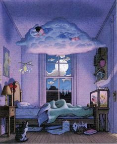 """Dreaming on a Cloud...   by David Wiesner (probably from his book """"Sector 7"""")"""