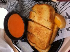 Disneyland Grilled Cheese Sandwich with Tomato Basil Soup