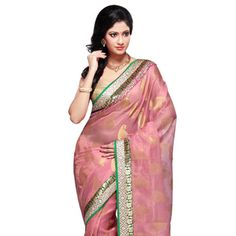 Pink Pure Zari Kota Silk Saree with Blouse #MyRakhiCollection