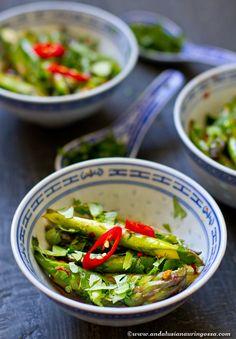 Stir-fried asparagus with tangy Asian vinaigrette - my favourite asparagus dish so far!