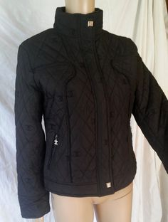 Chanel Zip Up Jacket size M  #CHANEL #BasicJacket