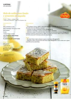 Revista Bimby Setembro 2015 Food C, Diy Food, Good Food, Yummy Food, Comida Diy, Fodmap Recipes, Happy Foods, Healthy Cookies, Sweet Cakes
