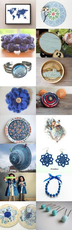 Blue 'Round the World by Julie on Etsy--Pinned with TreasuryPin.com