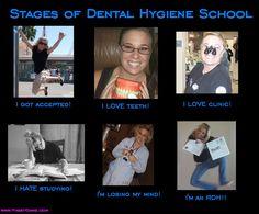 The many emotions of Dental Hygiene School ;)