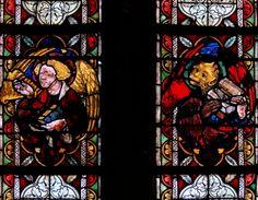 Vitraux anciens à l'église saint Georges de Sélestat
