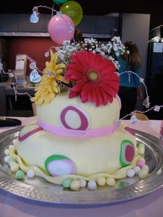 Baby shower cake (to match baby bedding)