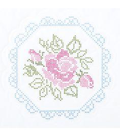 "Stamped White Quilt Blocks 18""X18"" 6/Pkg-Rose, , hi-res"
