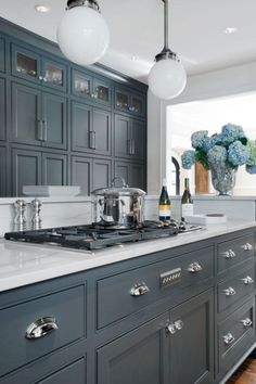 Best Grey Kitchen White Walls Grey Trim House Ideas And 400 x 300