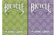 Bicycle Peacock Playing Cards 2 Deck Set 1 Green & 1 Purple. #playingcards #poker #games #magic #peacock