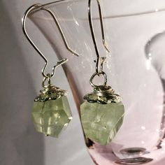 Prehnite Earrings from NyxStudioArt Nyx, Diy Art, Silver Plate, Plating, Drop Earrings, Jewellery, Artwork, Jewelery, Work Of Art